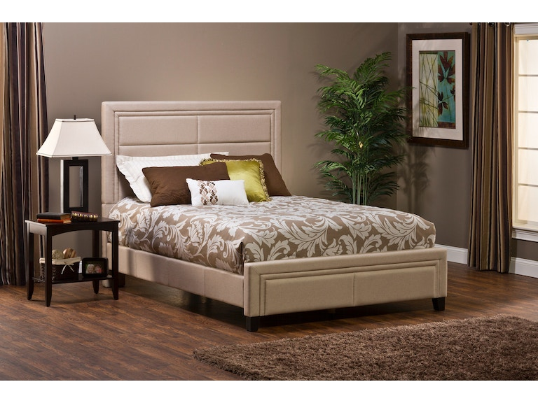 Hillsdale Furniture Bedroom Bombay Bed Set - Queen - Linen Stone ...