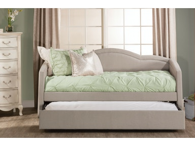 Hillsdale Furniture Jasmine Daybed with Trundle - Dove Gray Fabric 1119DBTG