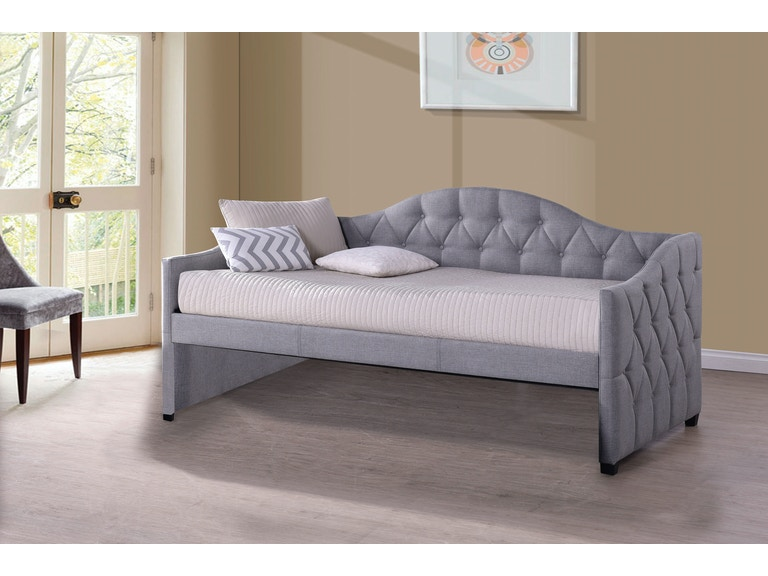 Hillsdale Furniture Bedroom Jamie Daybed Gray Fabric 1125dbg