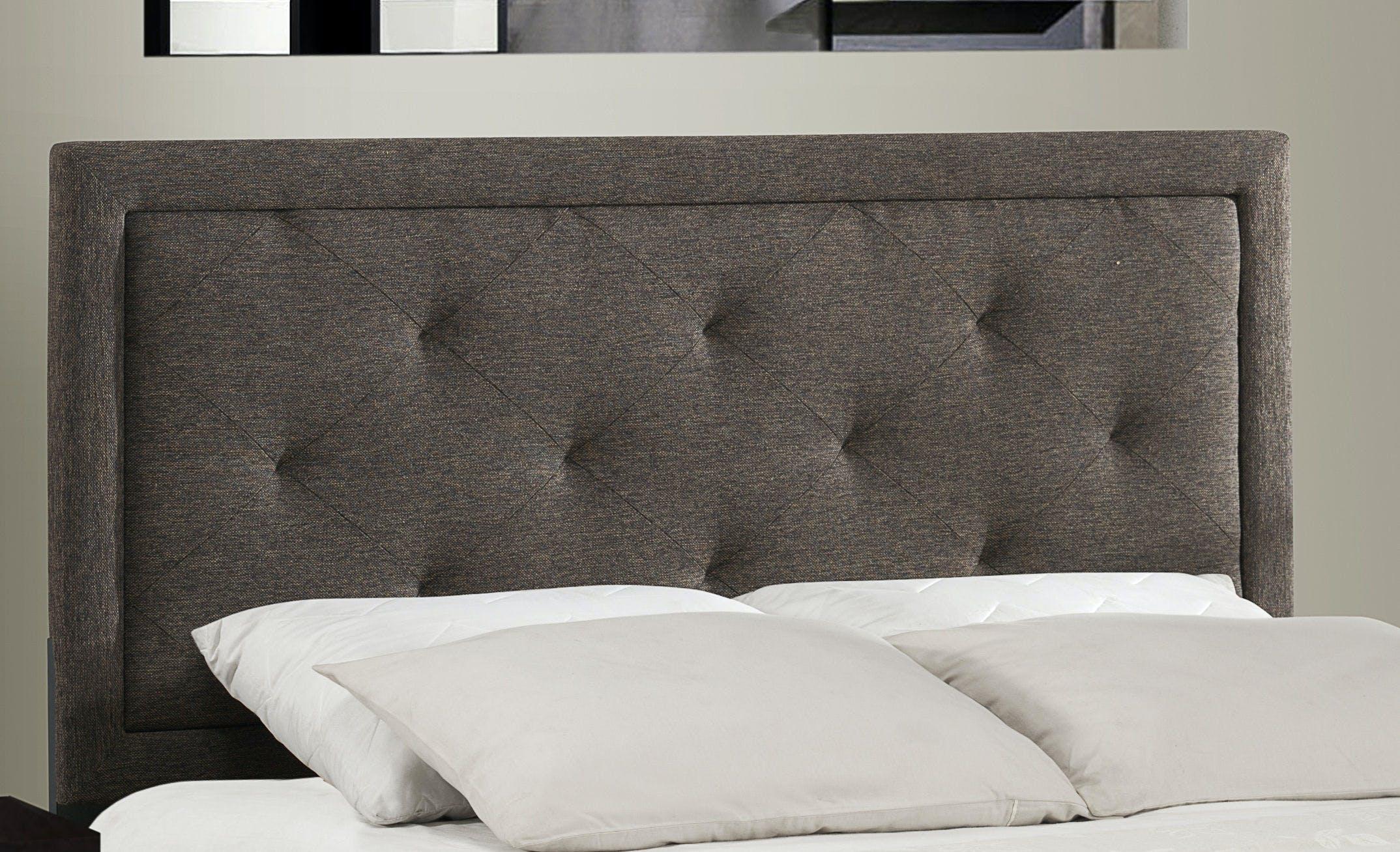 Hillsdale Furniture Bedroom Becker Headboard King Headboard Frame Included Black Brown Fabric