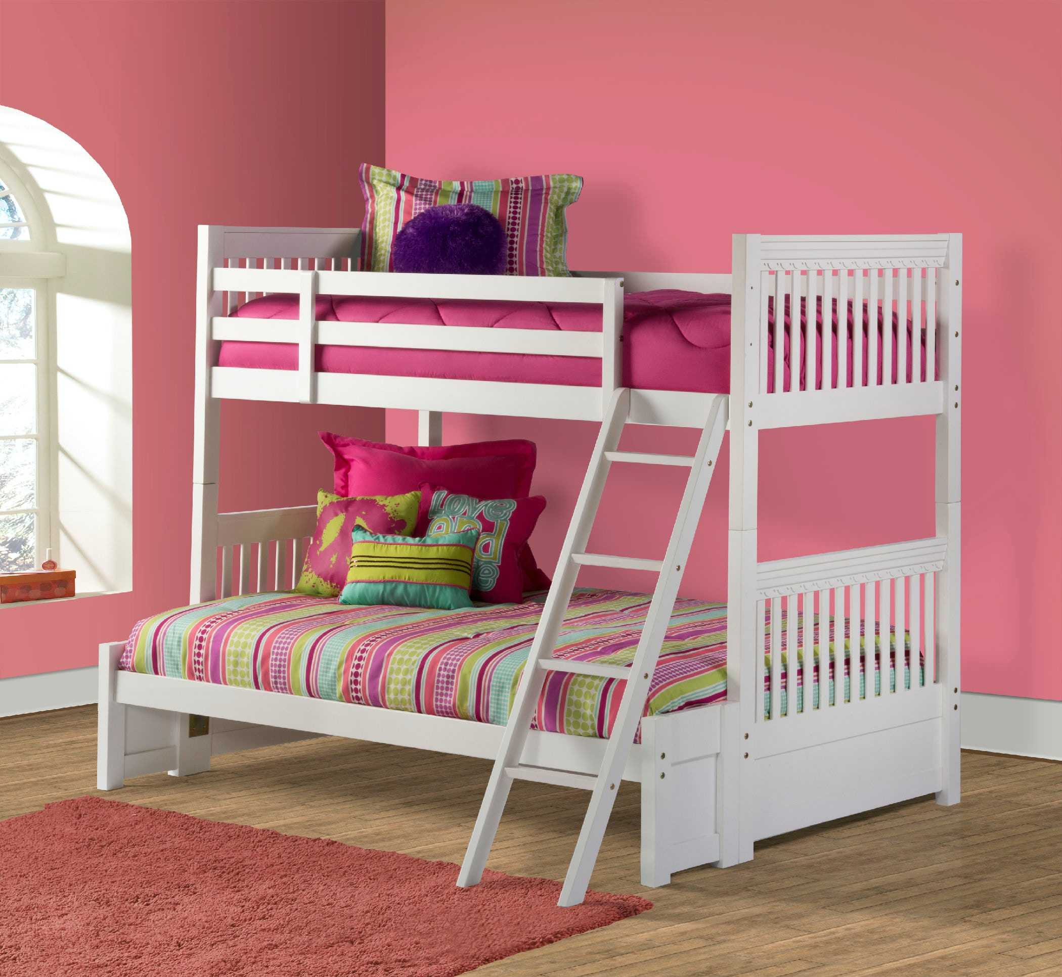Hillsdale Furniture Youth Lauren Bunk Bed Full Size Bottom