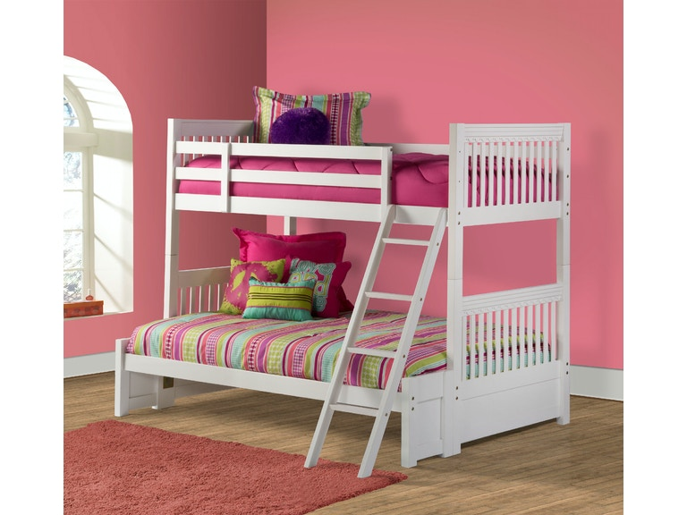 Hilale Furniture Youth Lauren Bunk Bed Full Size Bottom Conversion Kit 1528 411 At Union