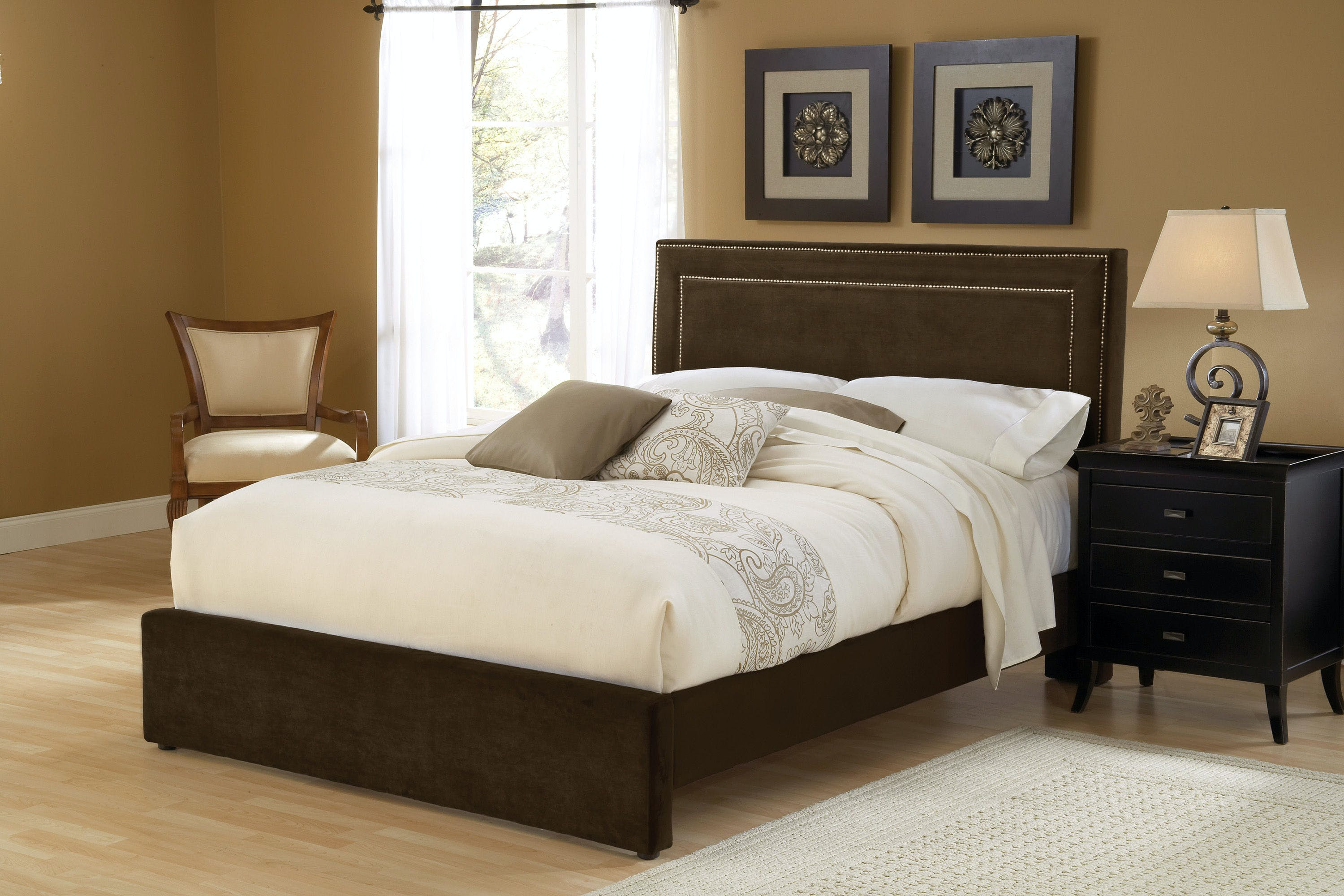 Hillsdale Furniture Bedroom Amber California King Bed Set With Rails 1554bckra Daws Home