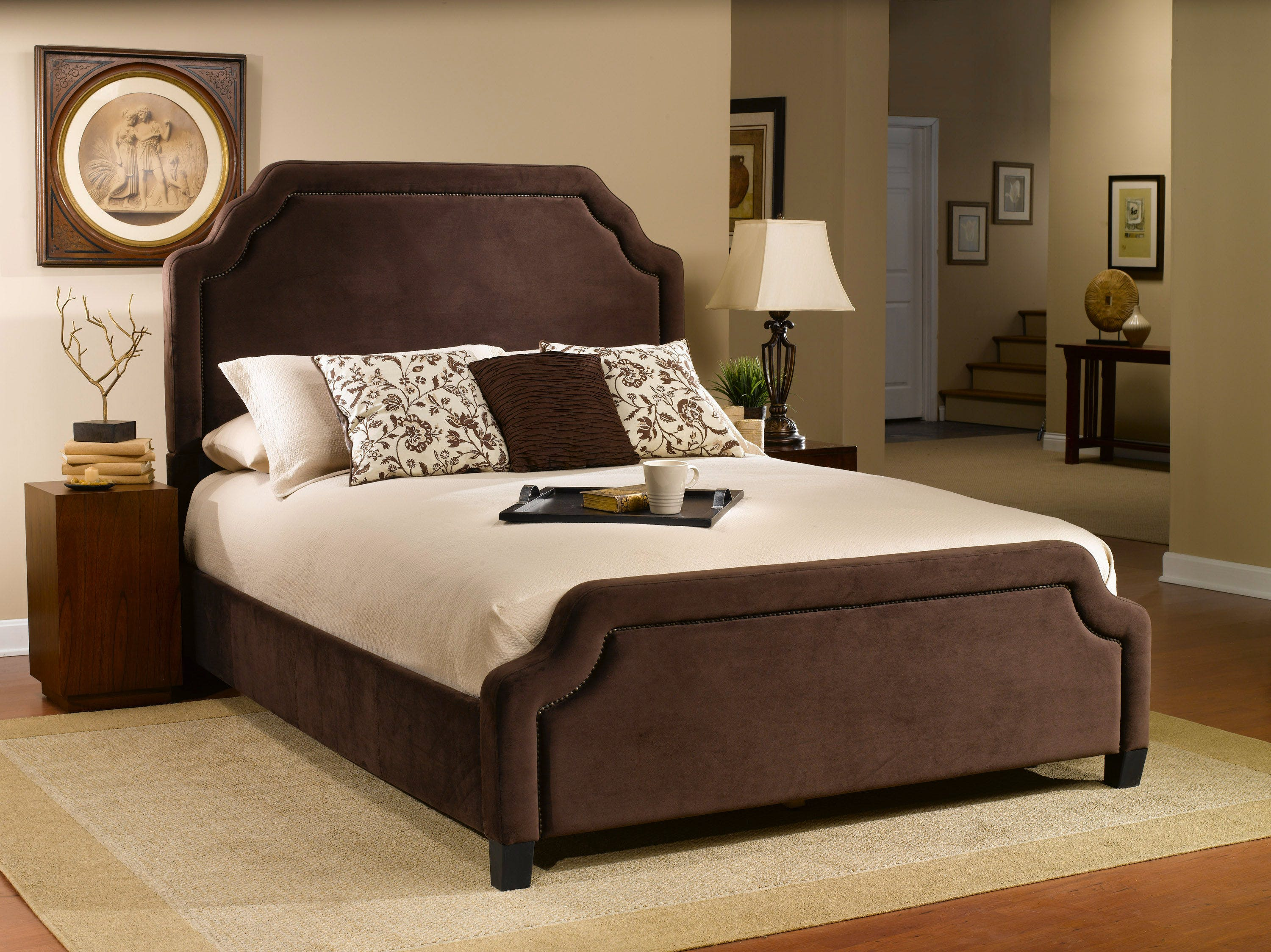 Hillsdale Furniture Bedroom Carlyle California King Bed Set With Rails 1554bckrc Aminis