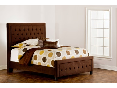 Hilale Furniture Bedroom Kaylie Bed Set King California Rails Included Chocolate