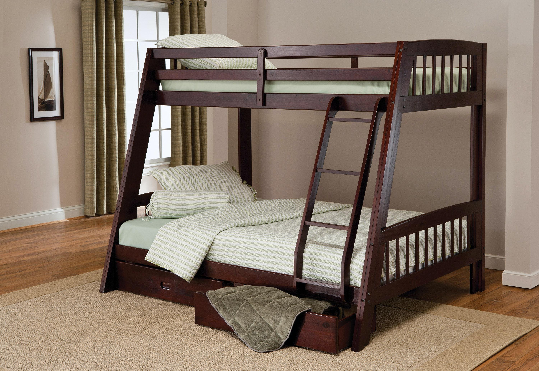 Hillsdale Furniture Youth Rockdale Bunk Bed Rails Storage Drawers