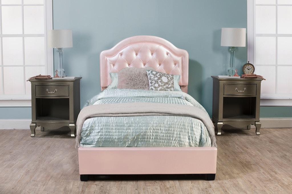 Hilale Furniture Youth Karley Bed Set Twin Rails