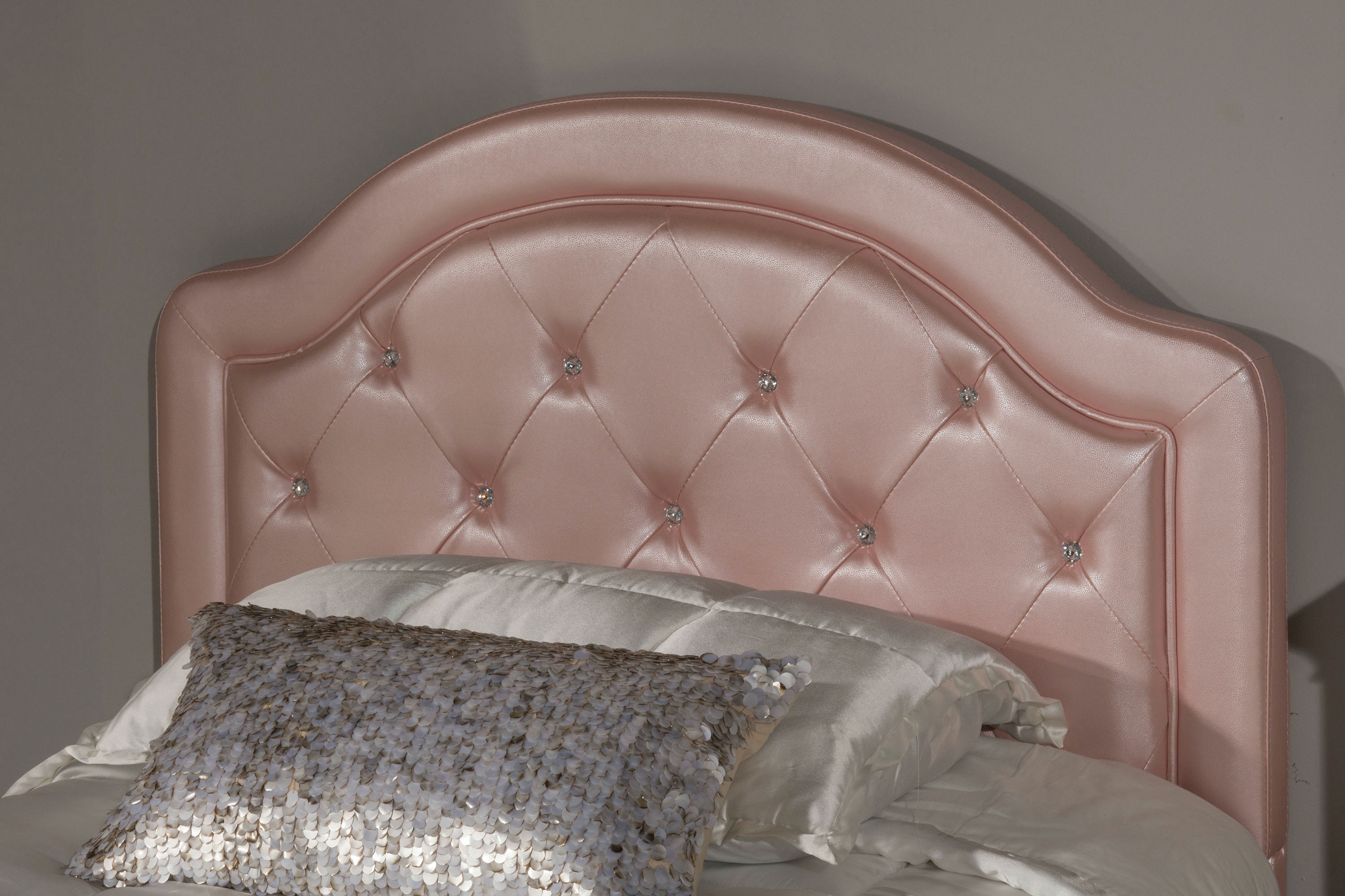 Hillsdale Furniture Youth Karley Headboard   Full   Pink Faux Leather  100947 109018 At Naturwood Home Furnishings