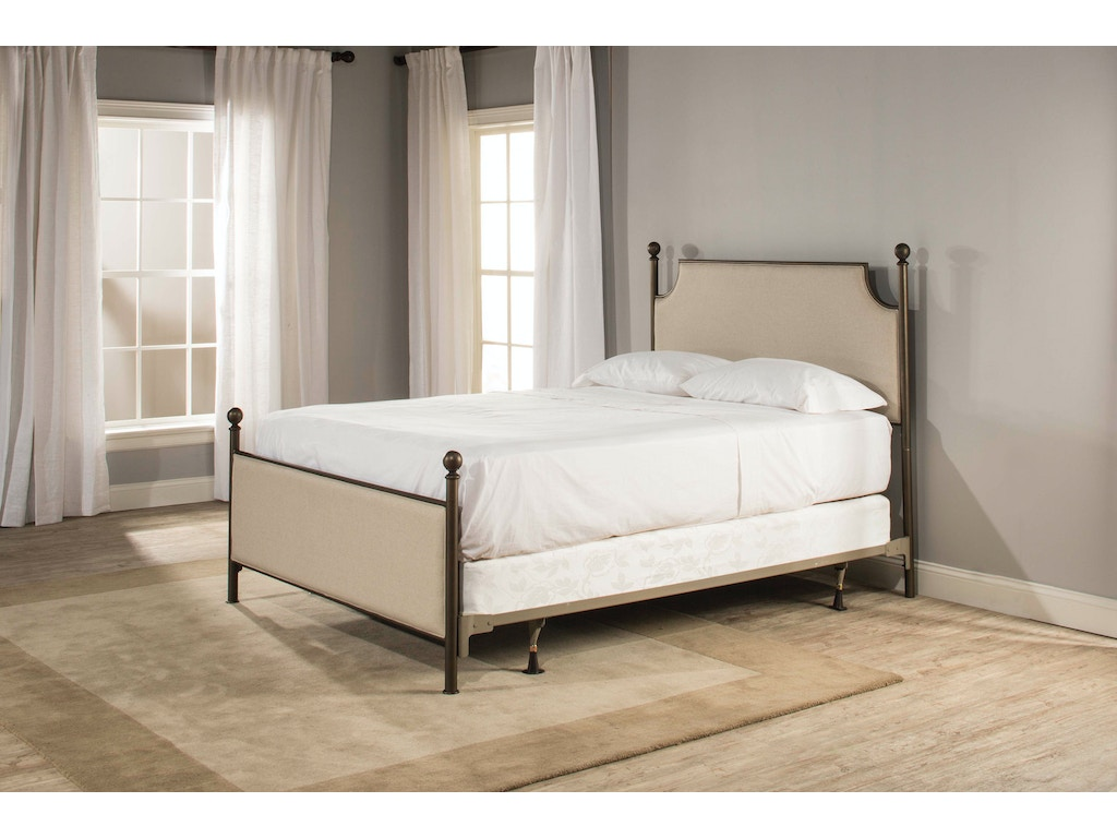 Hillsdale Furniture Bedroom McArthur Bed Set - Bronze Finish - Queen ...