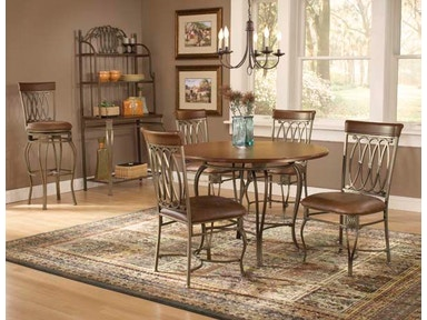 "Hillsdale Furniture Montello Round Dining Table - 45"" Faux Wood Top 41541-811"