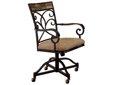 Hillsdale Furniture Pompeii Caster Dining Chairs - Set of 2 4442-806