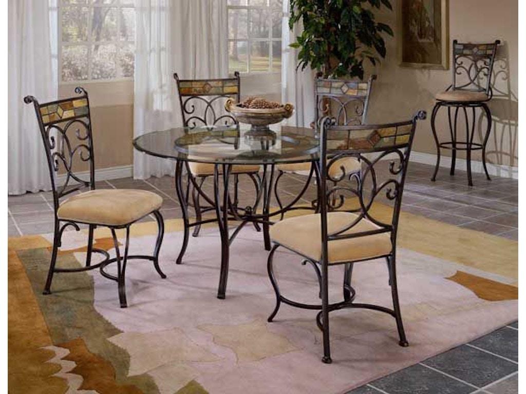 Hillsdale furniture dining room pompeii metal table