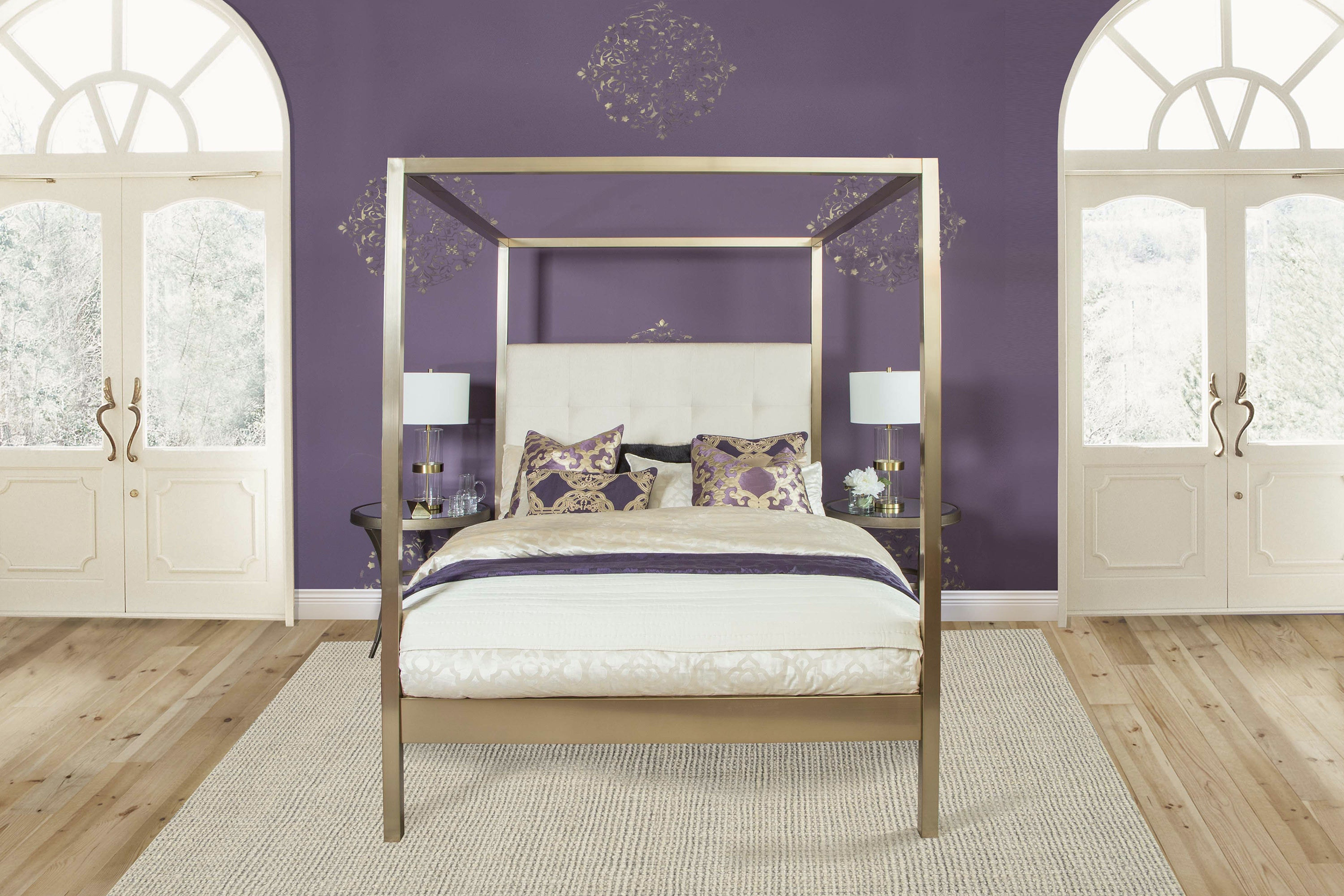 Hillsdale Furniture Avalon Bed Set - Queen - Bed Rails Included 1935BQ & Hillsdale Furniture Bedroom Avalon Bed Set - Queen - Bed Rails ...