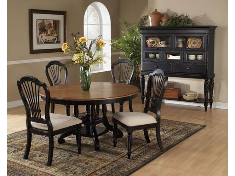 Hillsdale Furniture Dining Room 7 Piece Round Dining Set With Side
