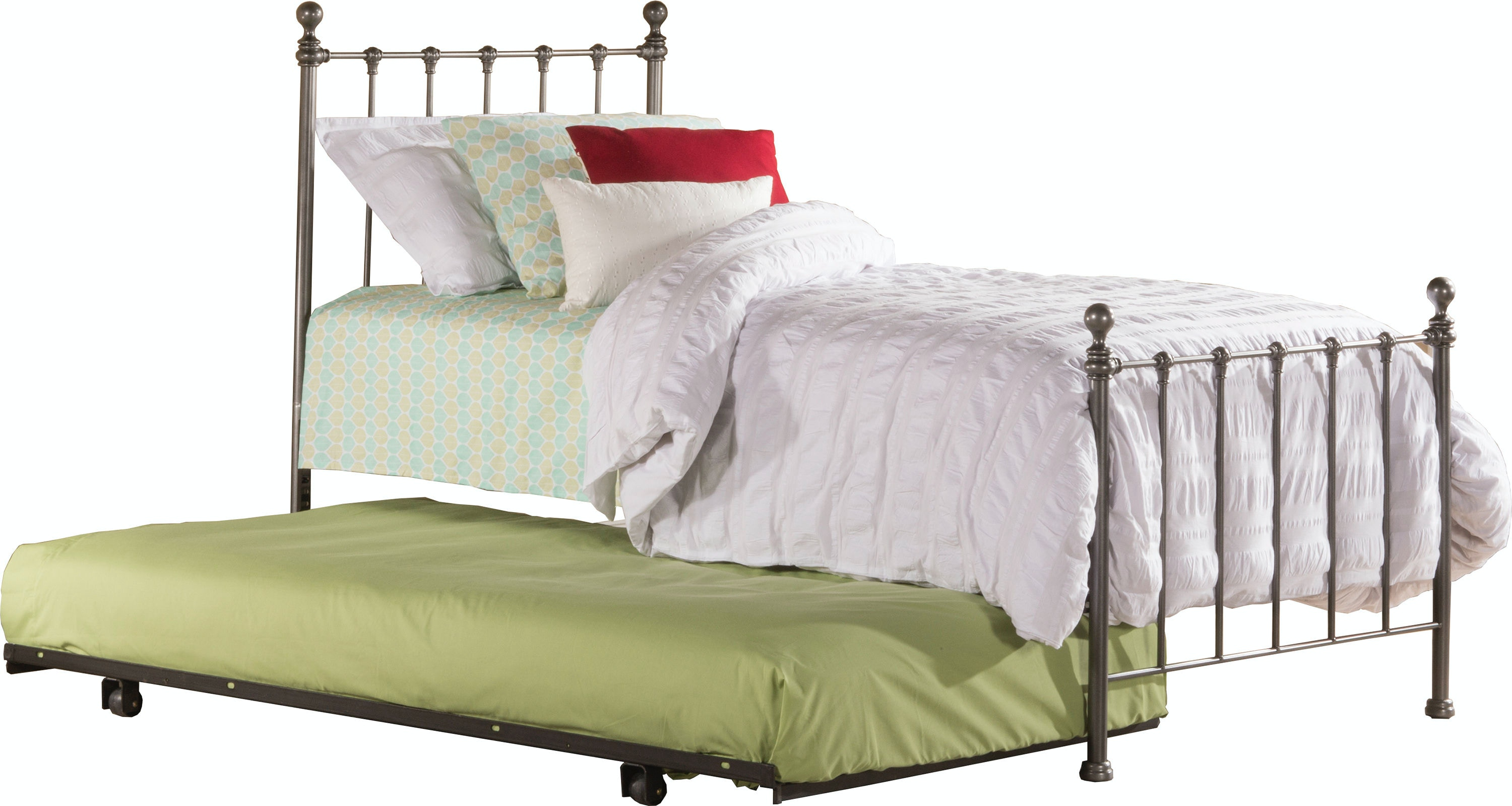 Hillsdale Furniture Molly Bed Set   Twin   Suspension Deck And Rollout  Trundle Included 1944TBDT