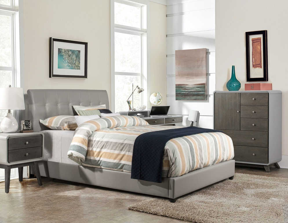 Hilale Furniture Youth Lusso Bed Set Twin Rails