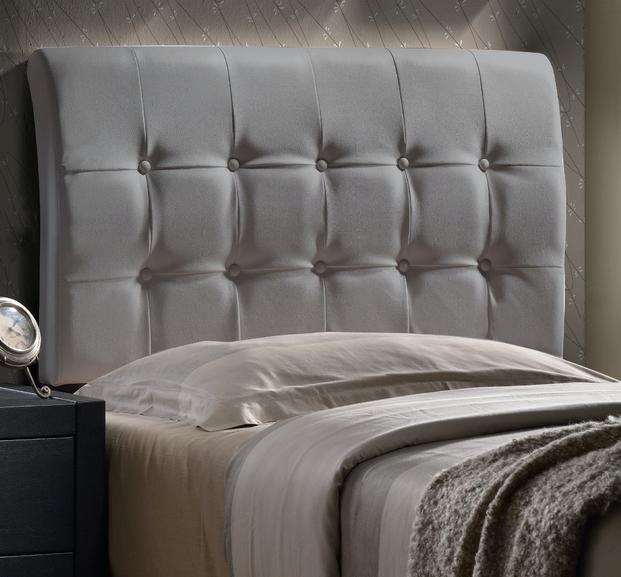 Hillsdale Furniture Youth Lusso Headboard Twin Headboard Frame Included Gray Faux Leather