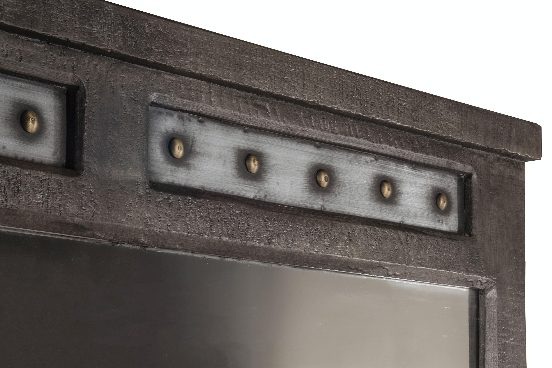 Hillsdale Furniture Bolt Dresser And Mirror  Dark Graywash 1963DM