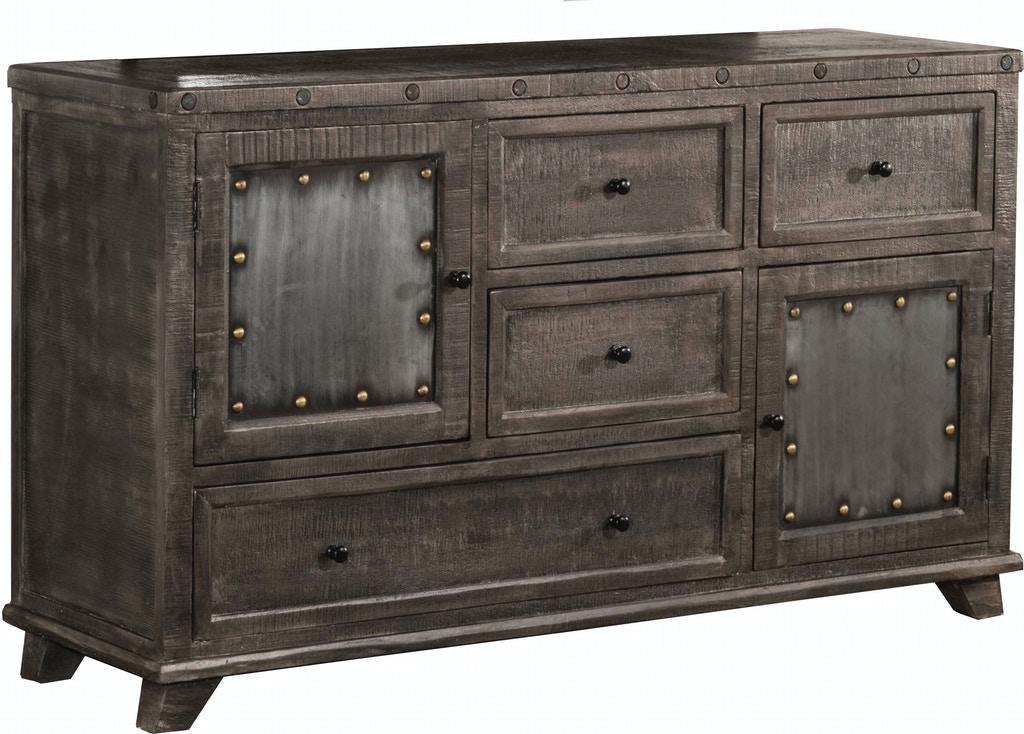 Hillsdale Furniture Bedroom Bolt Dresser - Light Graywash ...