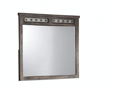 Hillsdale Furniture Bolt Mirror - Light Graywash 1964-867