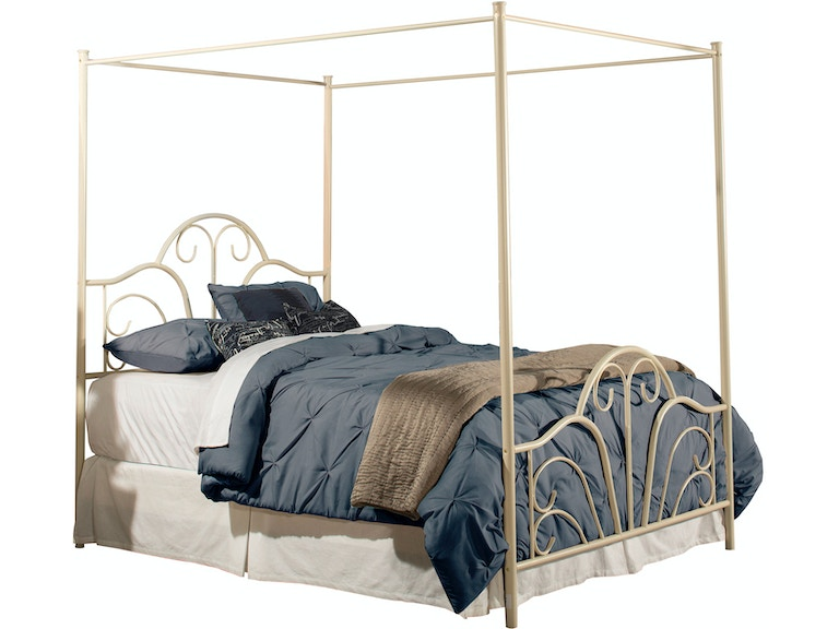 Hillsdale Furniture Bedroom Dover Bed Set - King - with Canopy and ...