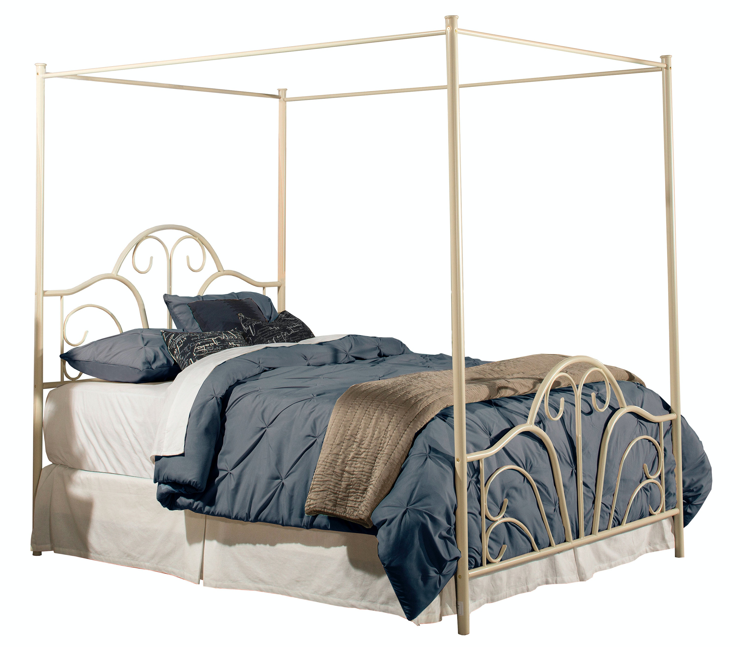 Hillsdale Furniture Dover Bed Set - King - with Canopy and Legs - Bed Frame Not  sc 1 st  Furniture Kingdom & Hillsdale Furniture Bedroom Dover Bed Set - King - with Canopy and ...