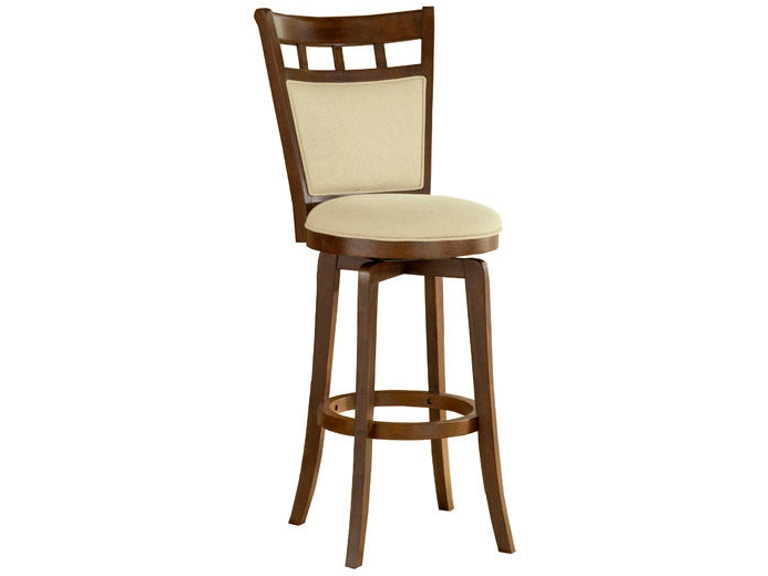 Jefferson Swivel Bar Stool With Cushion Back Hil4975830