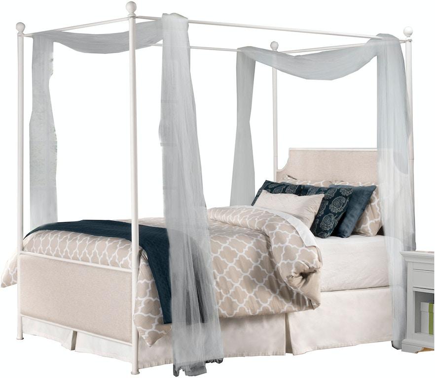 Hillsdale Furniture Bedroom McArthur Canopy Bed Set - Off-White ...