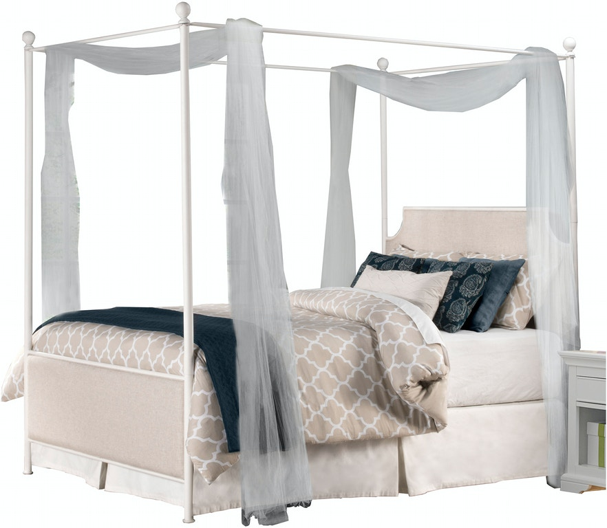 Hillsdale Furniture Bedroom McArthur Canopy Bed Set - Off-White ...