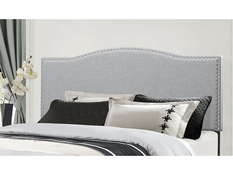 Hilale Furniture Bedroom Kiley Headboard King Glacier Gray Fabric 2017 670 At Winner