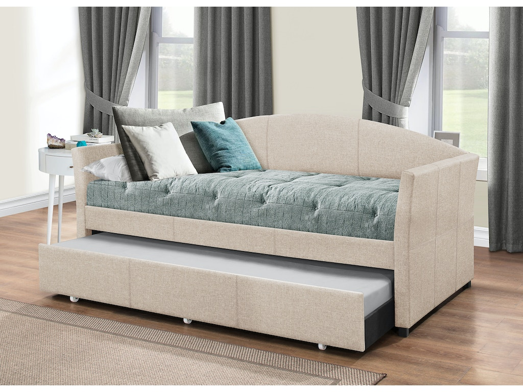 Hillsdale Furniture Bedroom Westchester Daybed With Trundle Fog Fabric 2019dbtf Hatch