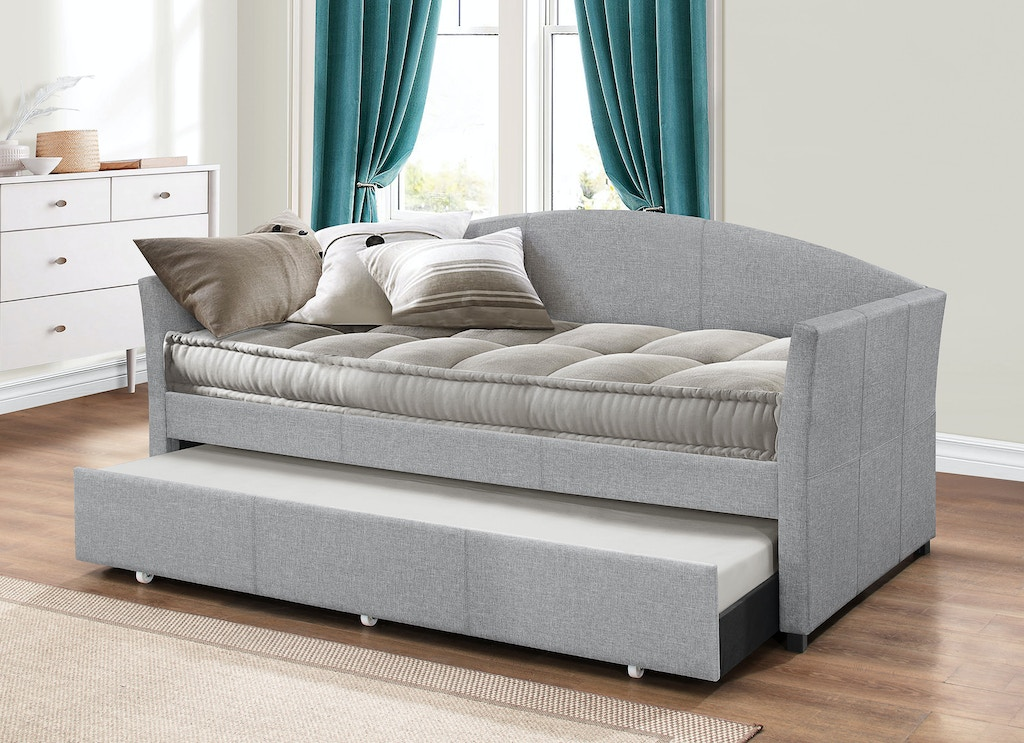 Hillsdale Furniture Bedroom Westchester Daybed With Trundle Smoke Gray Fabric 2019dbtg