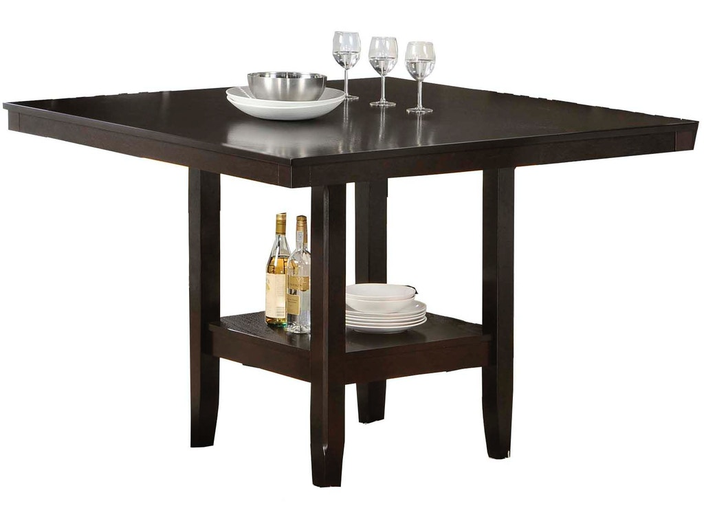Hillsdale Furniture Bar And Game Room Tabacon Counter Height Gathering Table With Wine Storage
