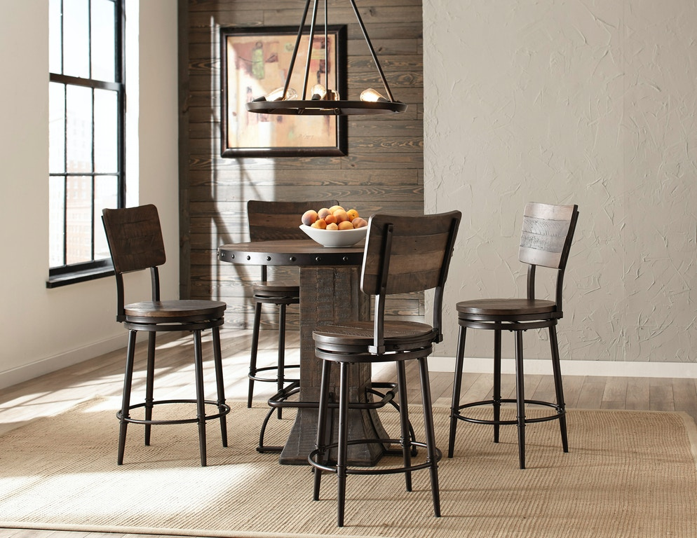 Cool Hillsdale Furniture Bar And Game Room Jennings 5 Piece Round Pabps2019 Chair Design Images Pabps2019Com