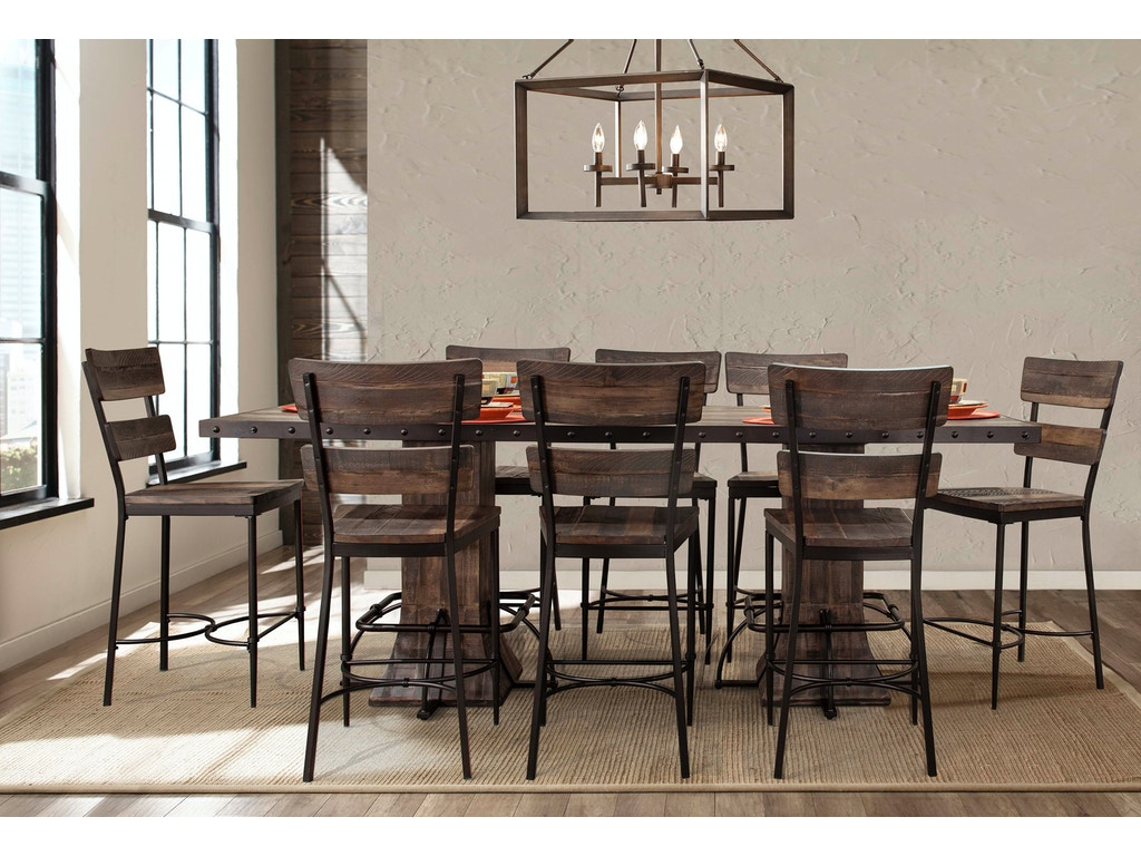 Hillsdale furniture bar and game room jennings 9 piece for 9 piece dining room set counter height