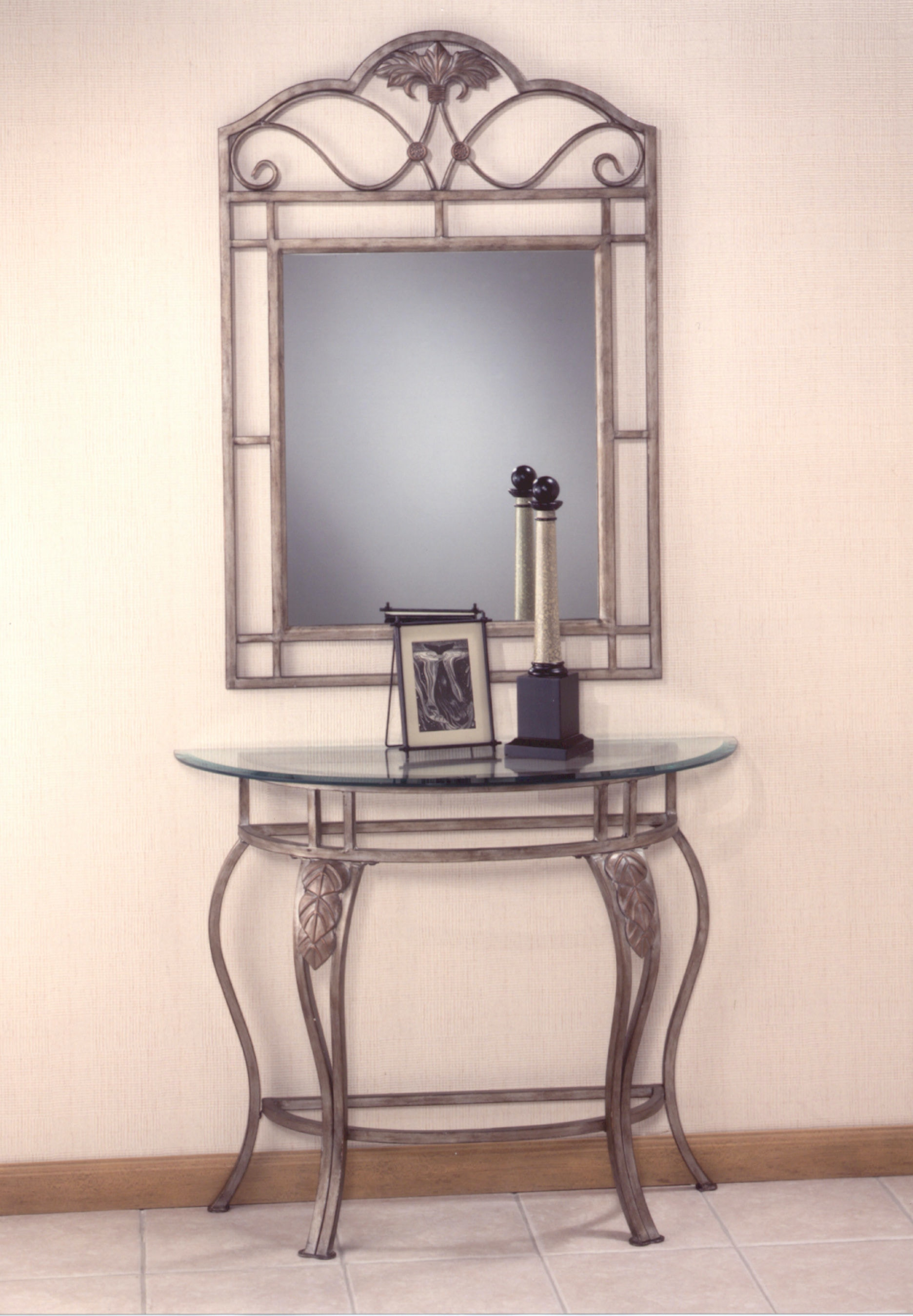 Hillsdale Furniture Bordeaux Console Table   Glass Top 49545 Available To  Order At Flemington Department Store