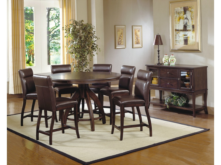 Hillsdale Furniture Nottingham 5 Piece Counter Height Dining Set 4077DTBCG