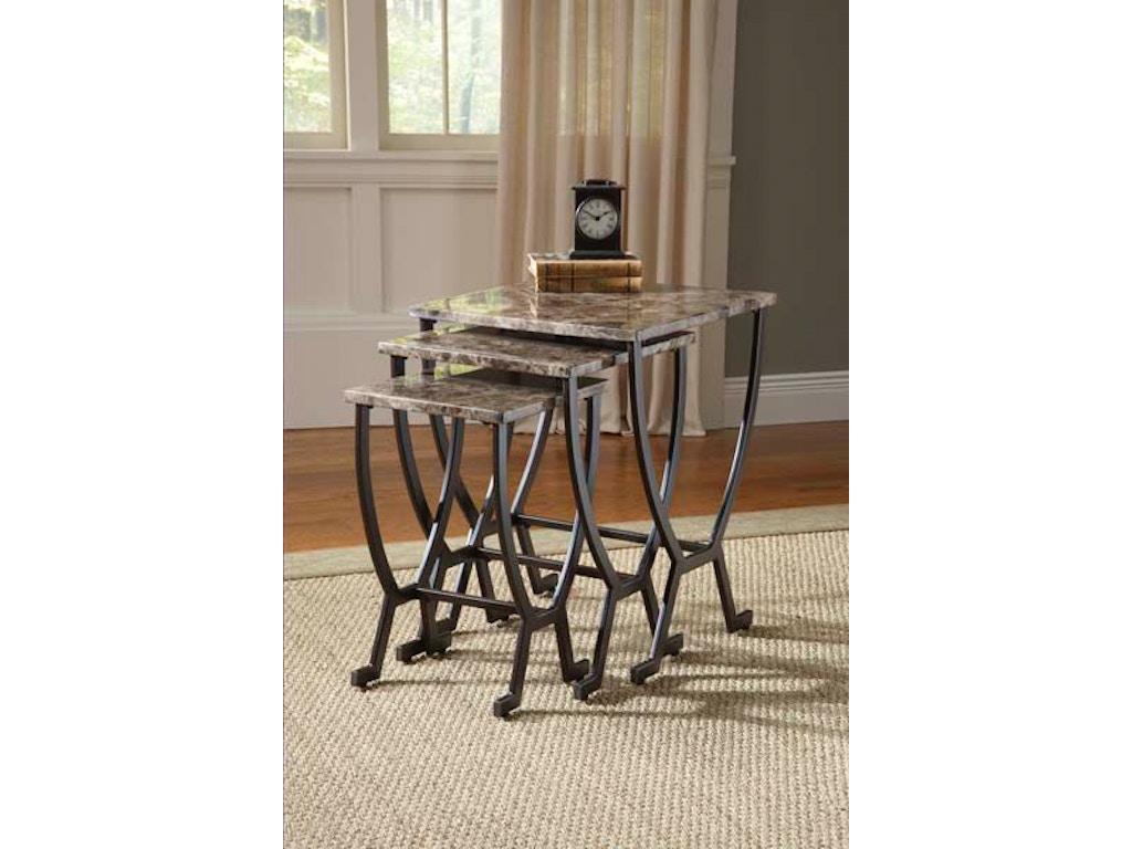 Hillsdale furniture living room monaco nesting tables 4142 for Furniture 888