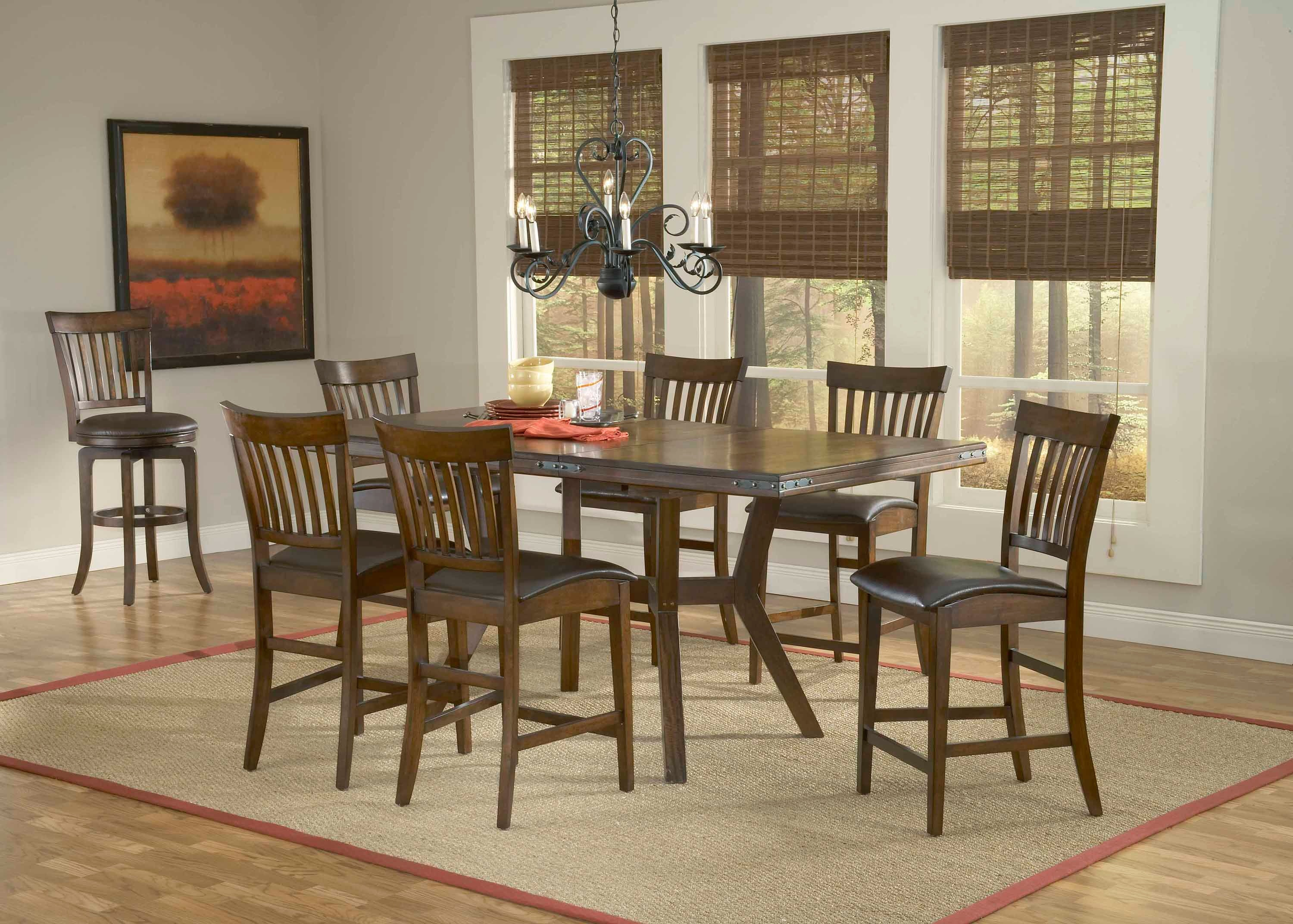 Hillsdale Furniture Arbor Hill 7 Piece Counter Height Dining Set 4232GTBS7
