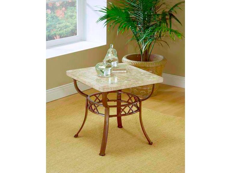 hillsdale furniture living room brookside fossil end table base
