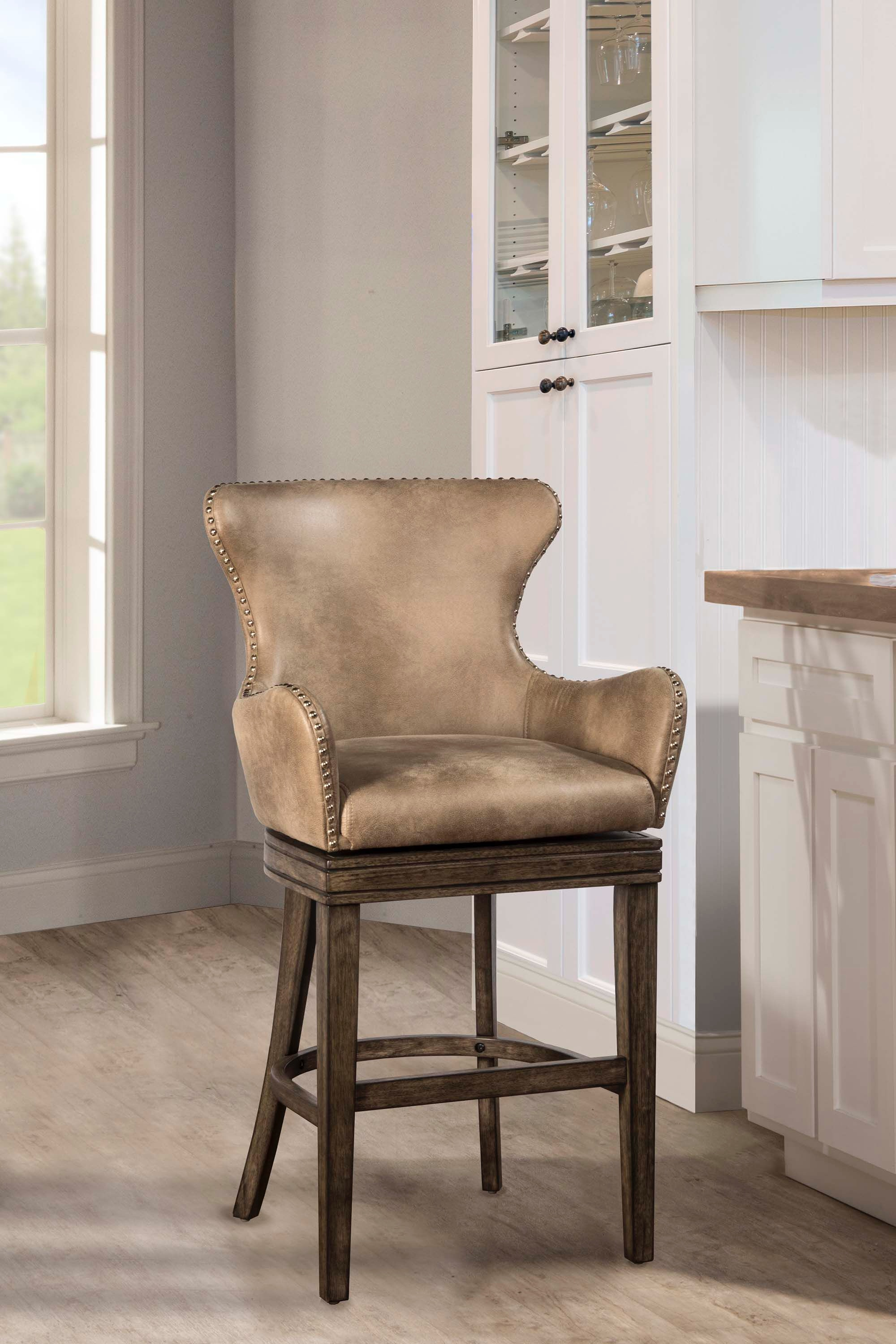 Hillsdale Furniture Bar And Game Room Caydena Swivel Counter Stool 4346 826  At Naturwood Home Furnishings