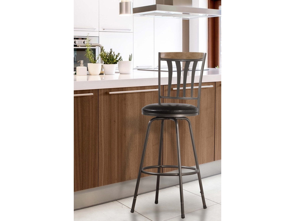 Hillsdale Furniture Bar And Game Room Darlington Adjustable Swivel Counter Bar Stool With Nested