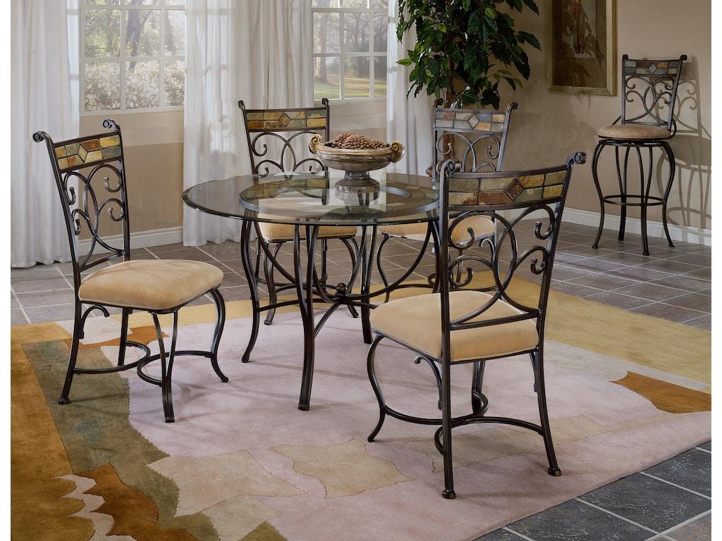 Hillsdale Furniture Dining Room Pompeii Metal Dining Table Base ...