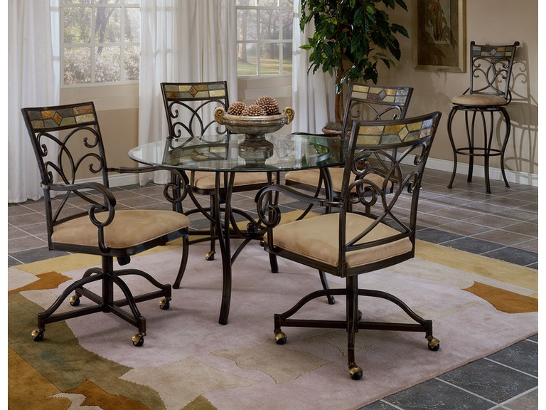 hillsdale furniture dining room pompeii 5 piece dining set with