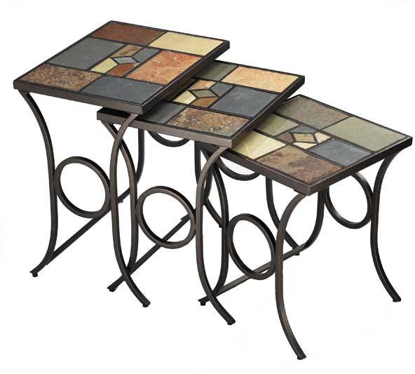 Hillsdale Furniture Living Room Pompeii Nesting Tables