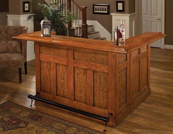 Beau Hillsdale Furniture Classic Oak Large Bar 62586A