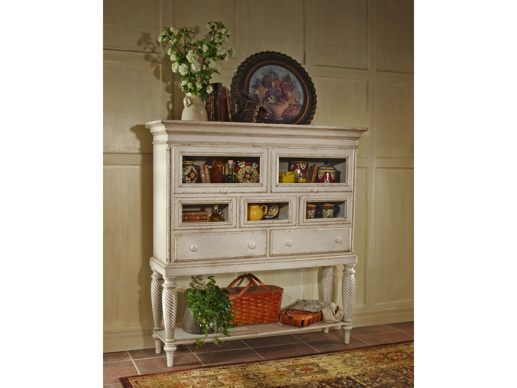 Hillsdale furniture living room wilshire sideboard cabinet for Furniture kingdom