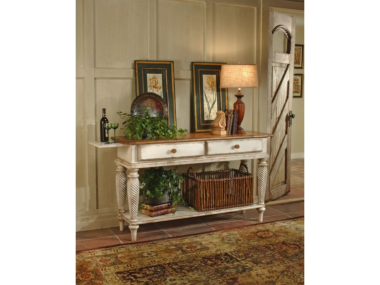 Hilale Furniture Living Room Wilshire Sideboard Antique White 4508sb At Love S Bedding And
