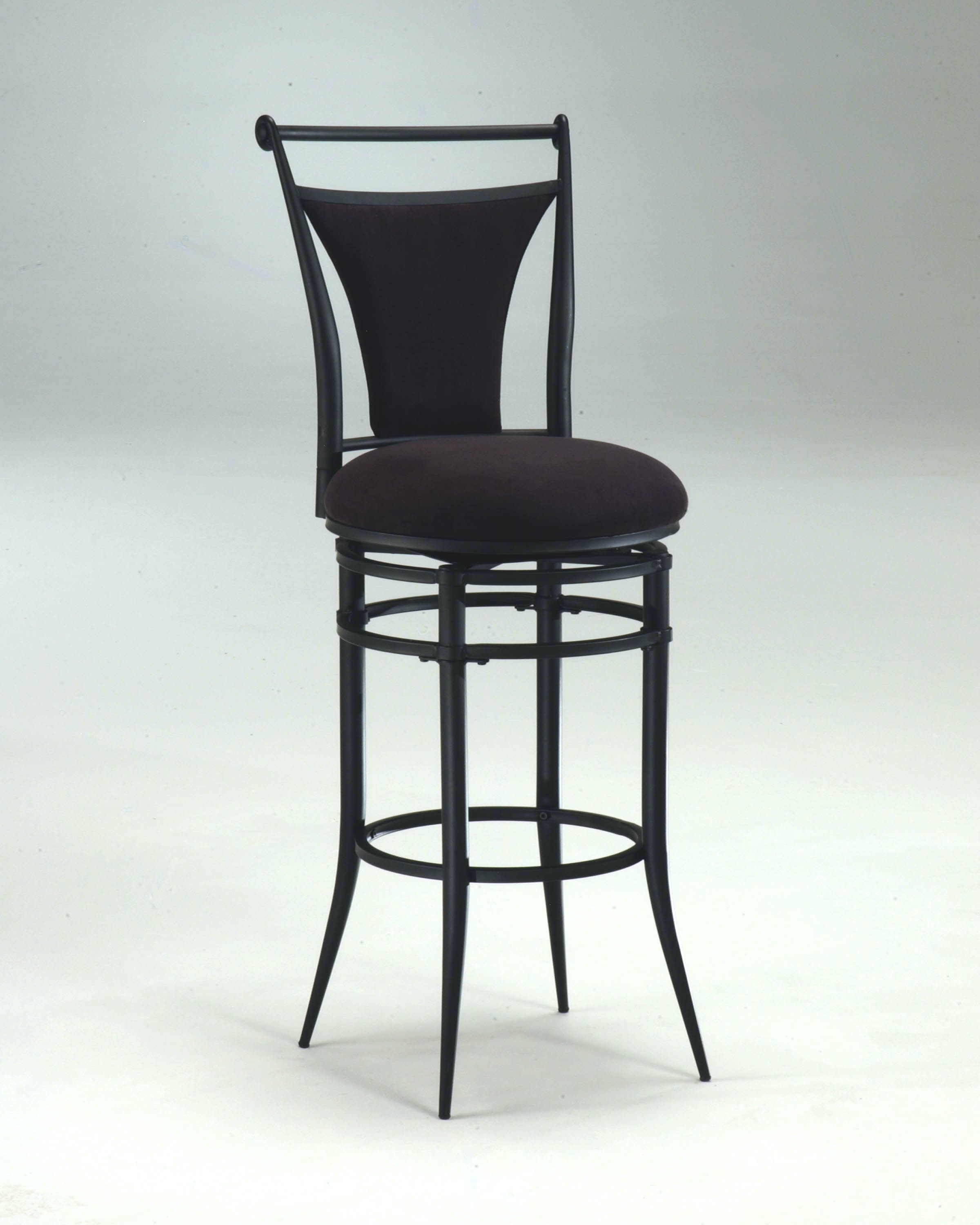 Cierra Swivel Counter Stool Black Fabric Hil4592826