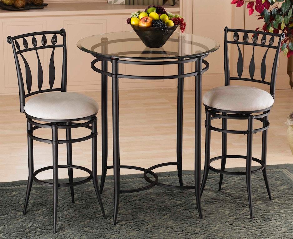 Hilale Furniture Hudson 3 Piece Bistro Set 4596ptbs2hd